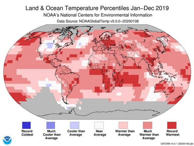 a-graphic-image-shows-land-and-ocean-temperatures-around-the-globe-in-2019-in-this-picture-obtained-from-social-media-on-january-15-2020-noaa-via-reuters-this-image-has-been-supplied-by-a-third-party-no-resales-no-